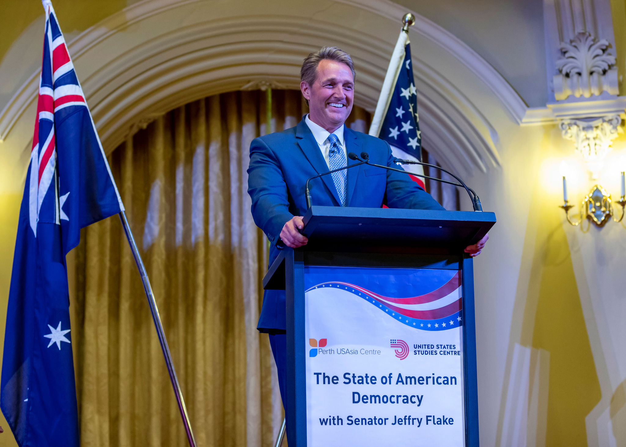 The Conscience of American Democracy: the Visit of Former U.S. Senator Jeff Flake