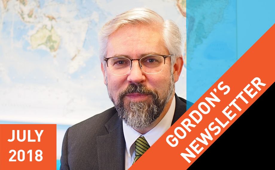 Gordon's Newsletter: July 2018 (Part 1)